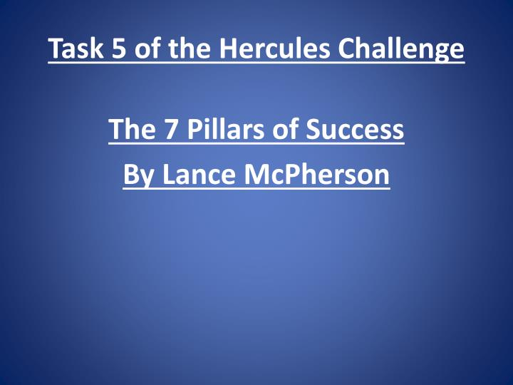 Task 5 of the hercules challenge