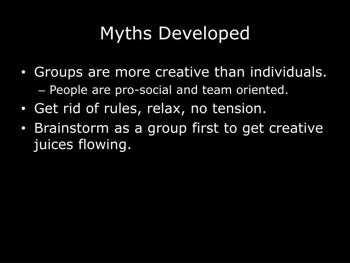 Myths Developed