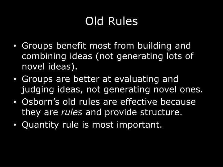 Old Rules