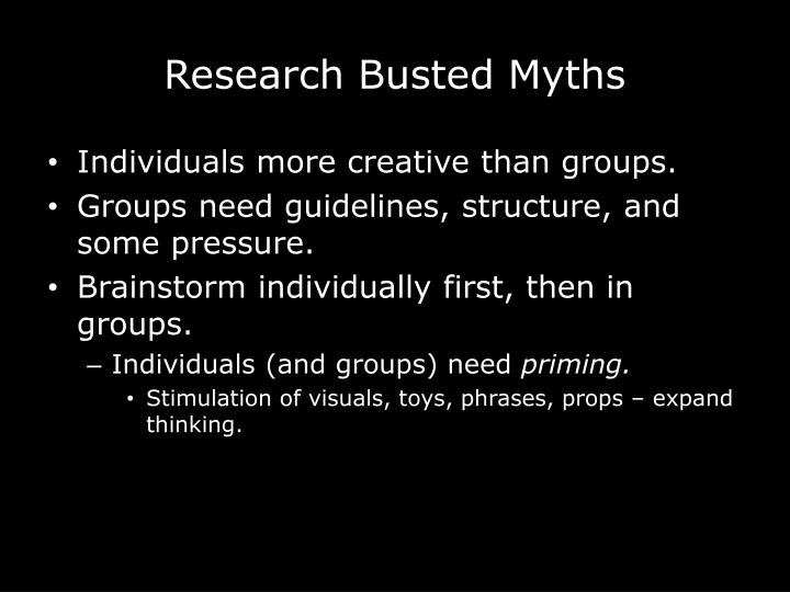 Research Busted Myths