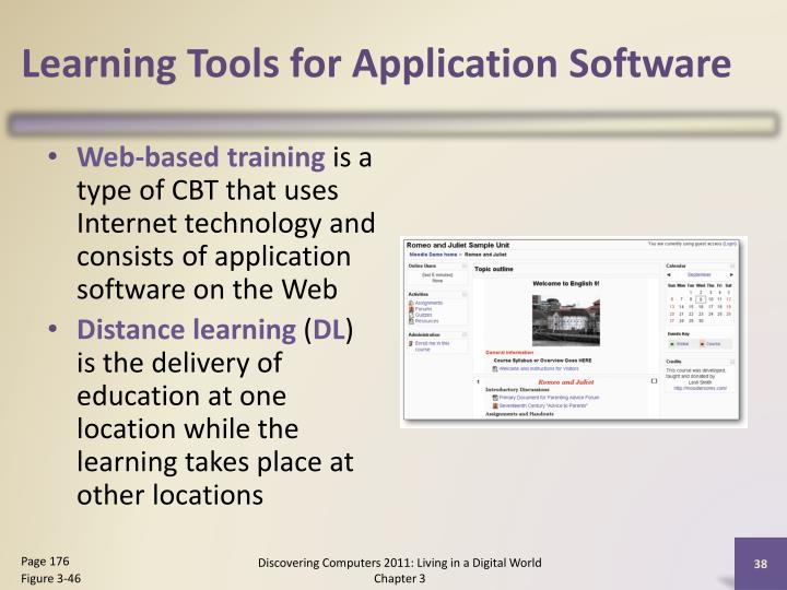 Learning Tools for Application Software