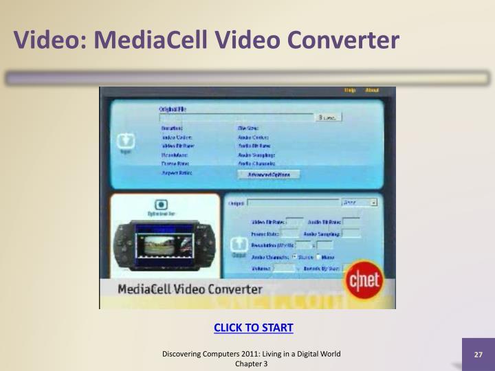Video: MediaCell Video Converter