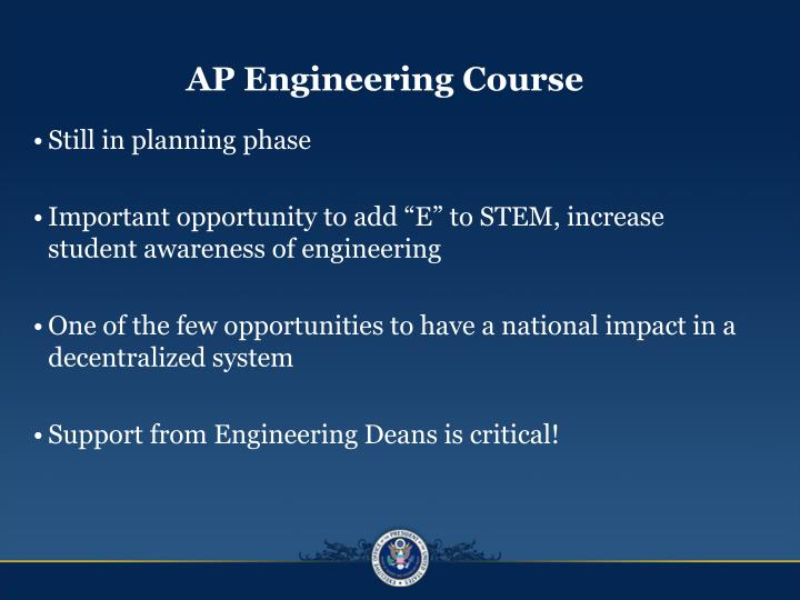 AP Engineering Course