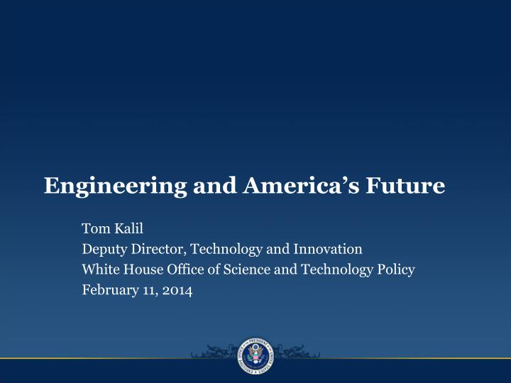 engineering and america s future