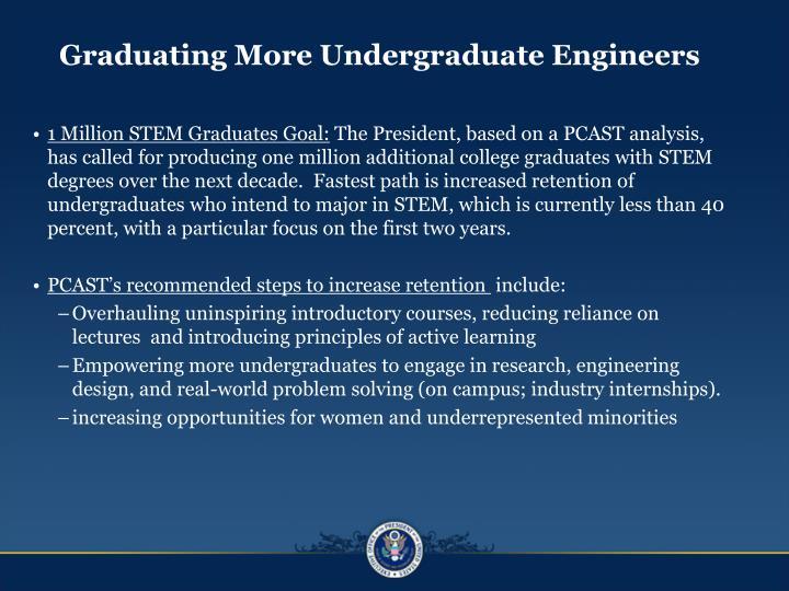 Graduating More Undergraduate Engineers