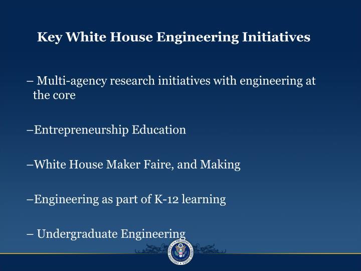 Key White House Engineering Initiatives
