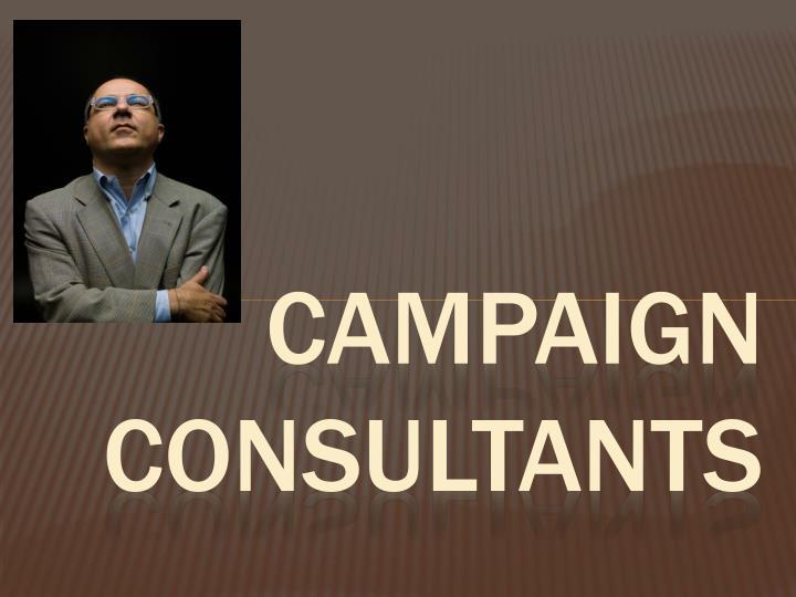 Campaign consultants