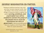 george washington 0n parties
