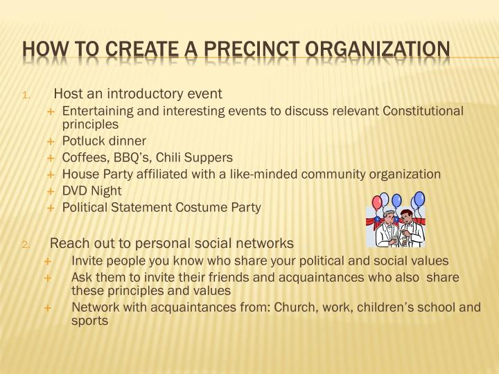 Host an introductory event