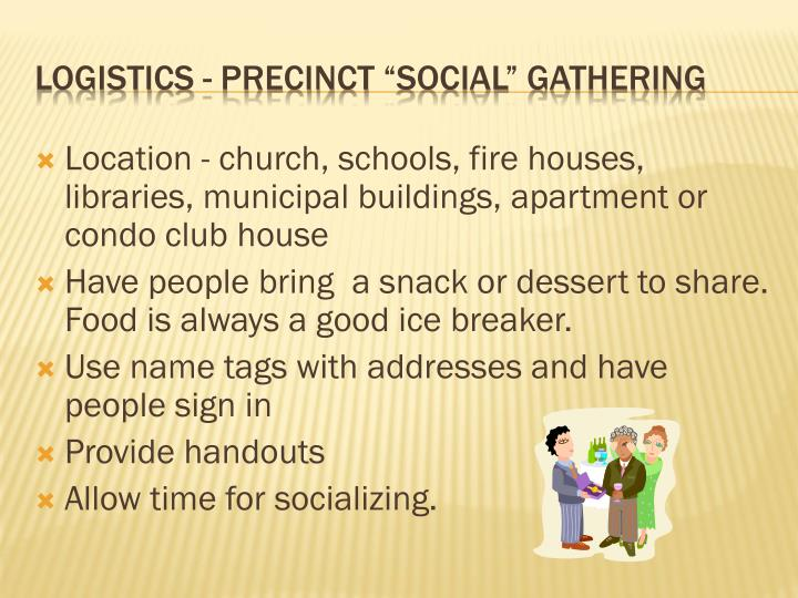 Location - church, schools, fire houses, libraries, municipal buildings, apartment or condo club house