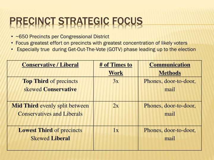 Precinct strategic focus