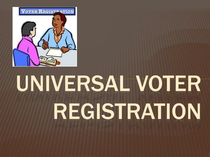 Universal voter registration