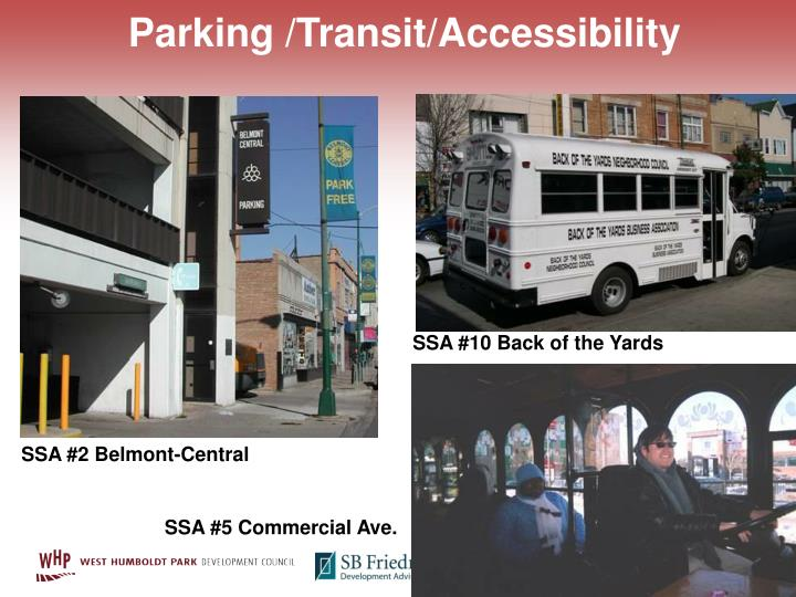 Parking /Transit/Accessibility
