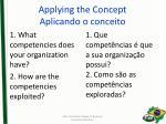 applying the concept aplicando o conceito