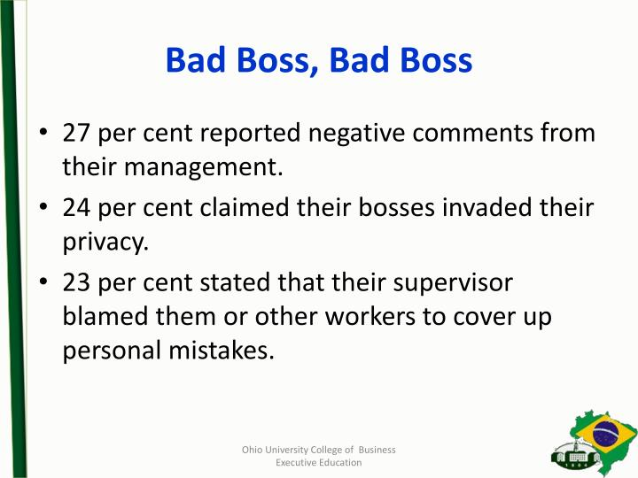 Bad Boss, Bad Boss