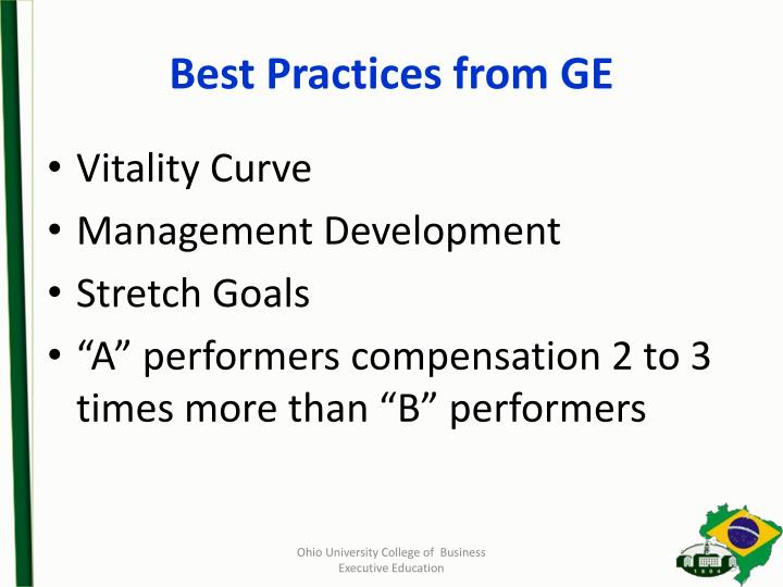 Best Practices from GE