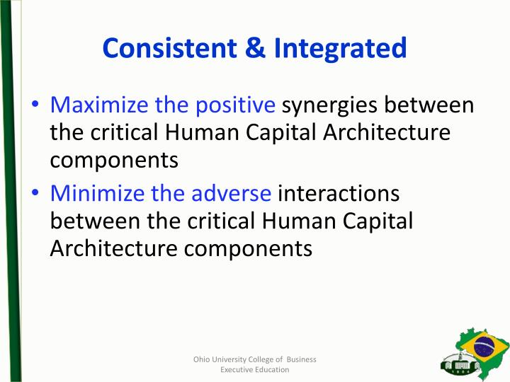 Consistent & Integrated
