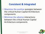 consistent integrated