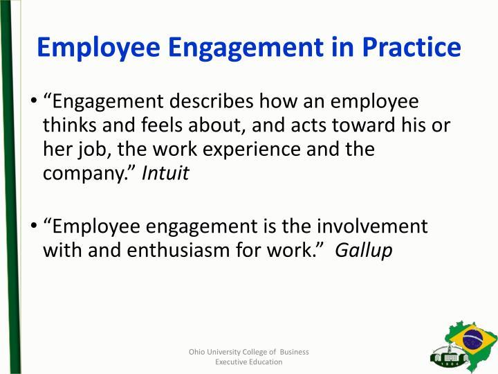 Employee Engagement in Practice