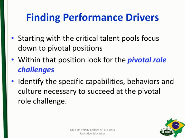 Finding Performance Drivers
