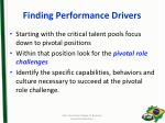 finding performance drivers1