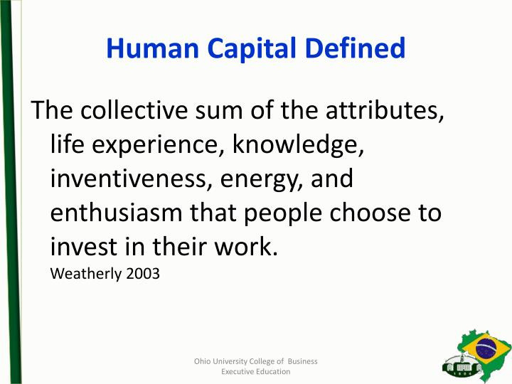 Human Capital Defined