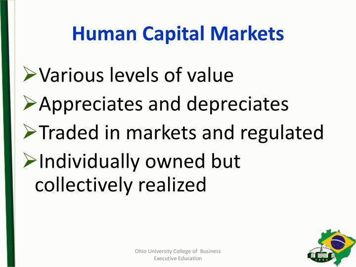 Human Capital Markets