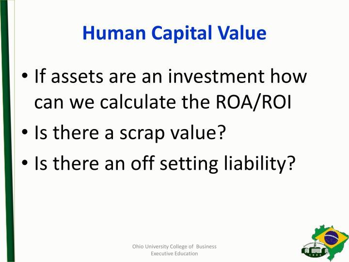 Human Capital Value
