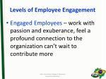levels of employee engagement