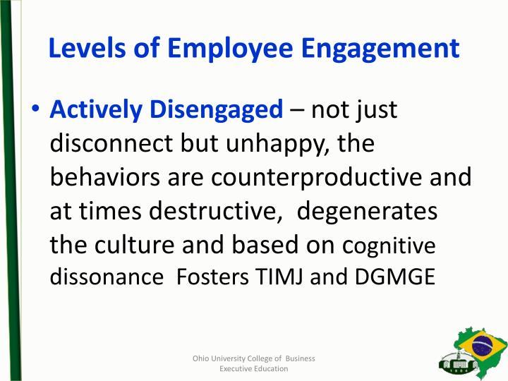 Levels of Employee Engagement