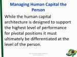 managing human capital the person