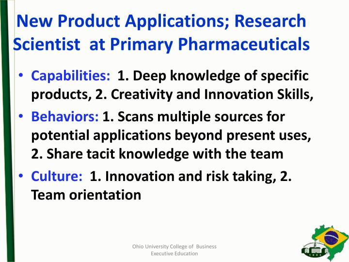 New Product Applications; Research Scientist  at Primary