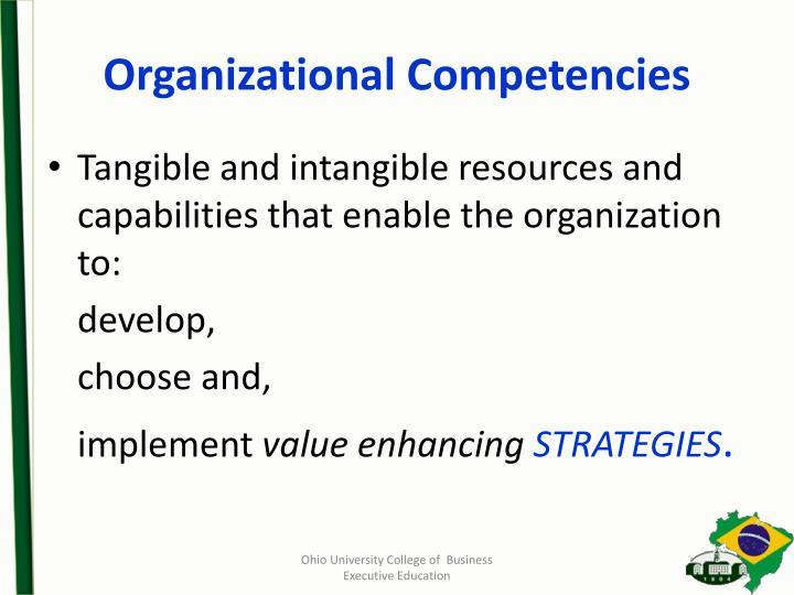 Organizational Competencies