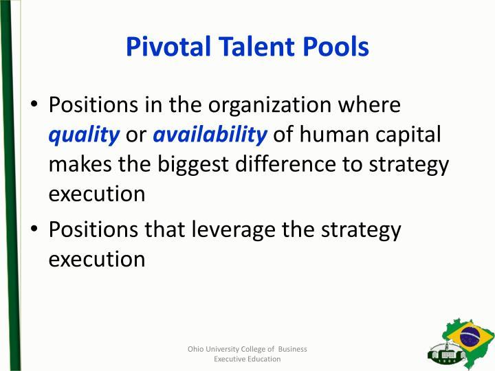 Pivotal Talent Pools