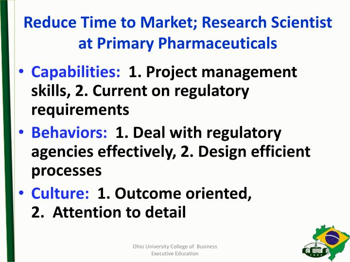 Reduce Time to Market;