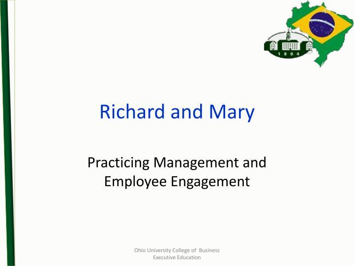 Richard and Mary