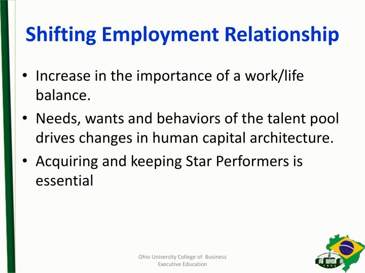 Shifting Employment Relationship