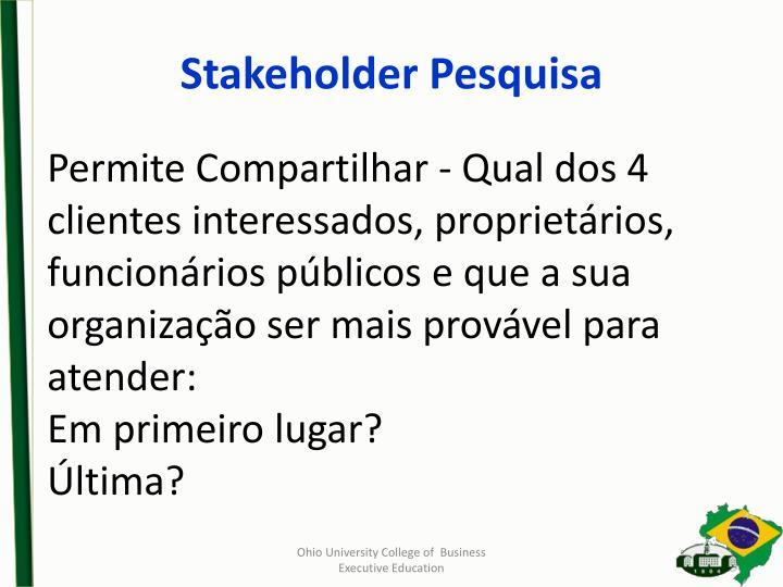 Stakeholder Pesquisa