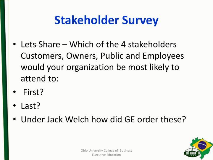 Stakeholder Survey