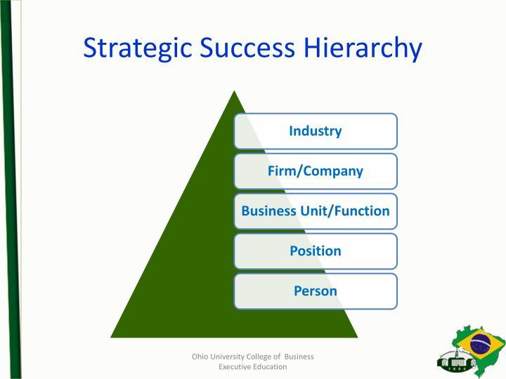 Strategic Success Hierarchy