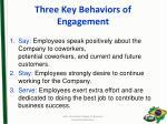 three key behaviors of engagement