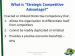 what is strategic competitive advantage