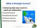 what is strategic success