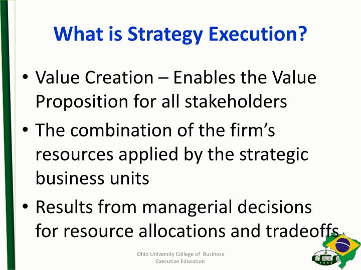 What is Strategy Execution?