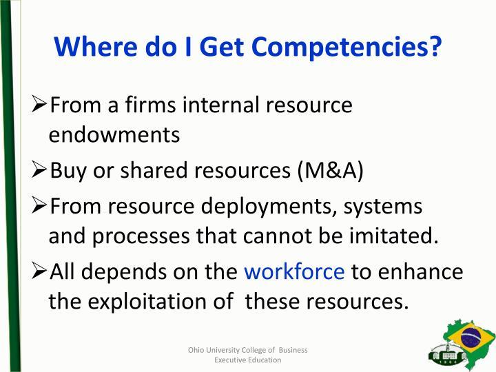Where do I Get Competencies?