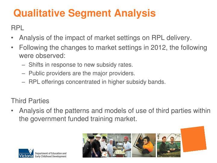 Qualitative Segment Analysis