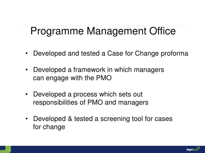 Programme Management Office