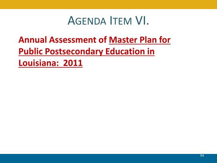 Agenda Item VI.