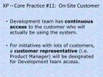 xp core practice 11 on site customer