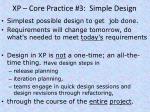 xp core practice 3 simple design